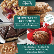 New gluten-free items arriving September 22nd