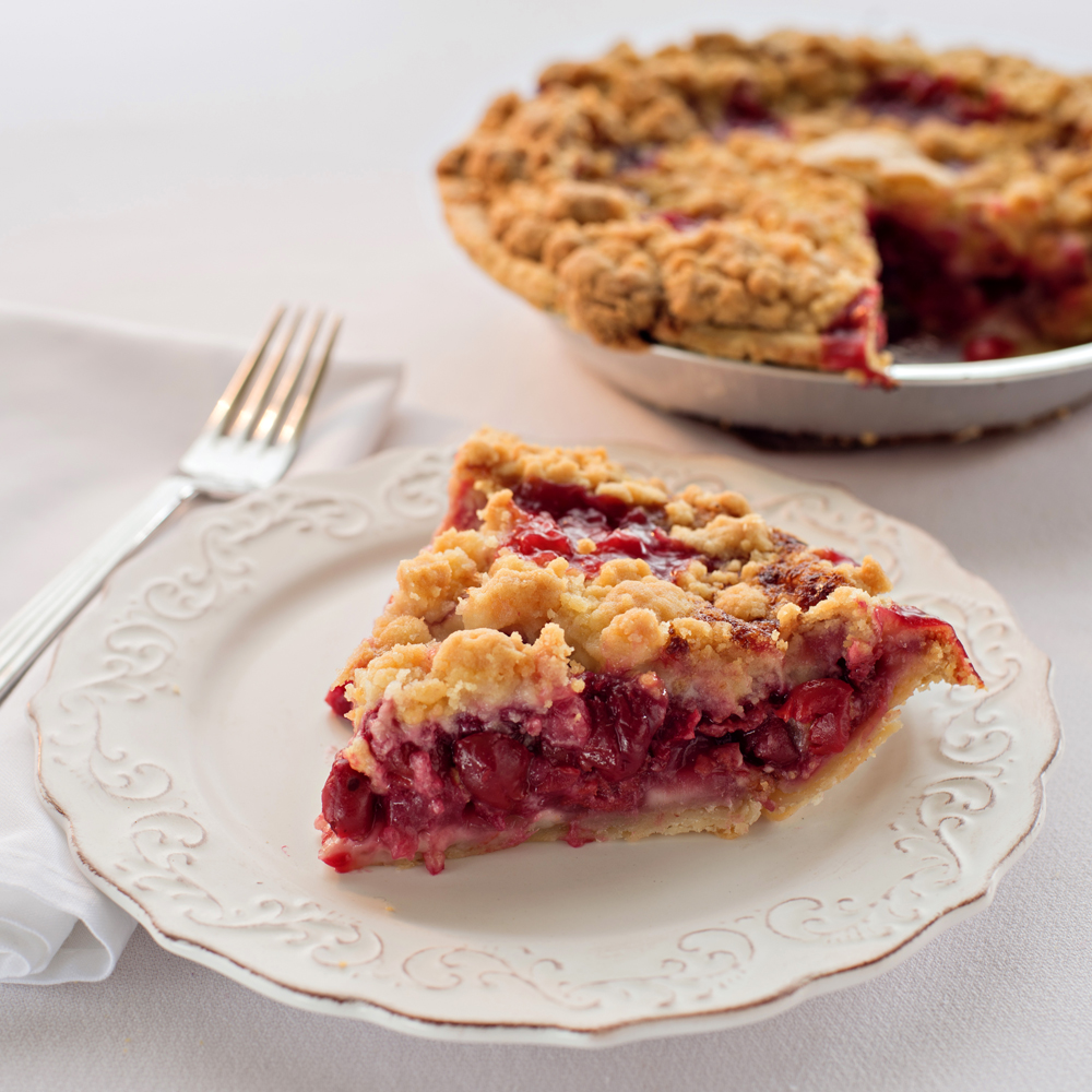 Easy Cherry Crumb Pie Recipe | CDKitchen.com |Cherry Pie With Crumb Topping