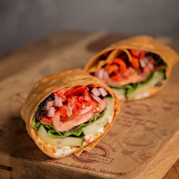 Mediterranean Veggie Wrap - Grand Traverse Pie Company