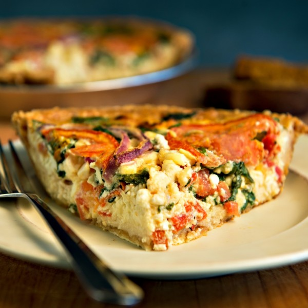 Mediterranean Veggie Quiche at Grand Traverse Pie Company