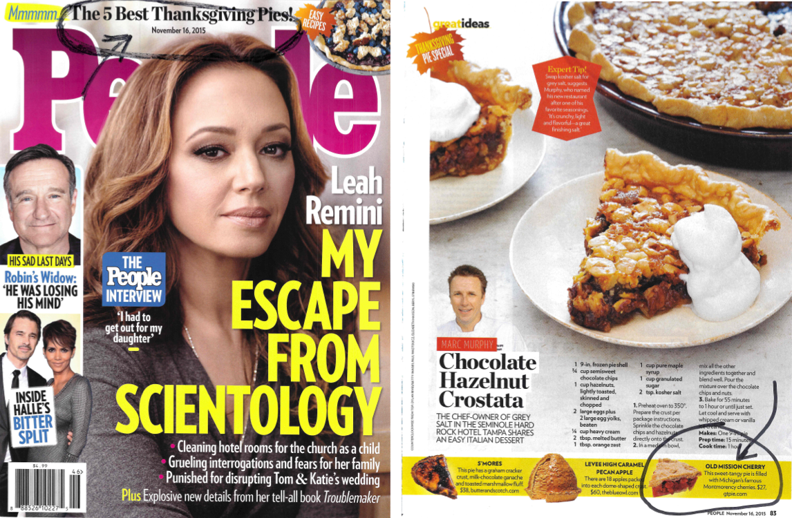 People Magazine Pie Love