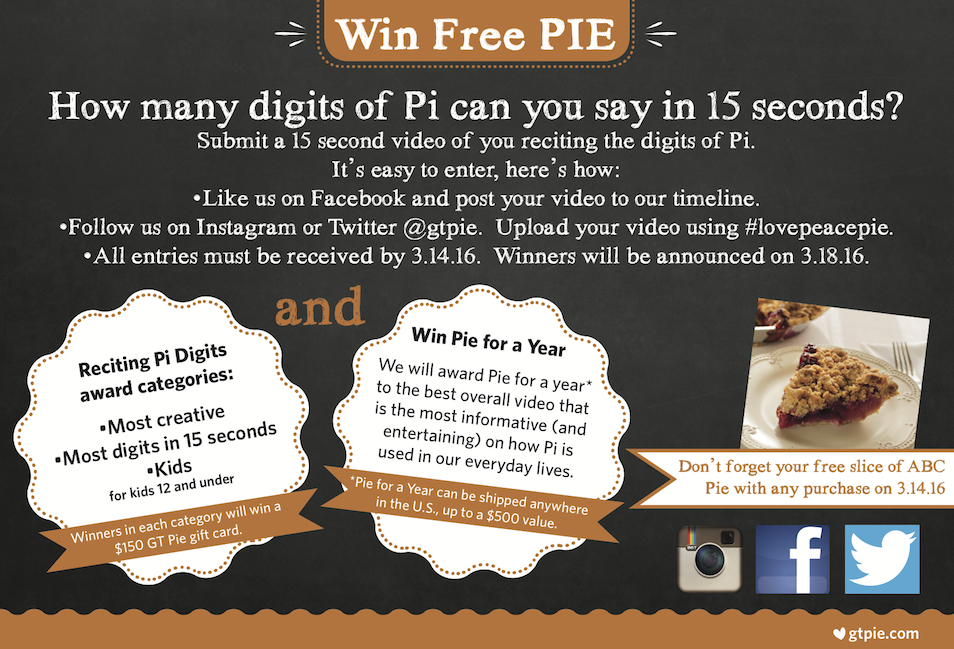 Pi Day Contest