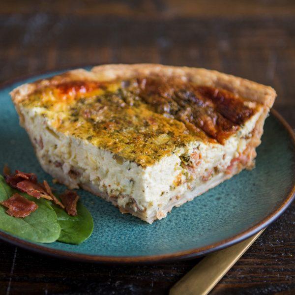 Bacon Pesto Quiche at Grand Traverse Pie Company