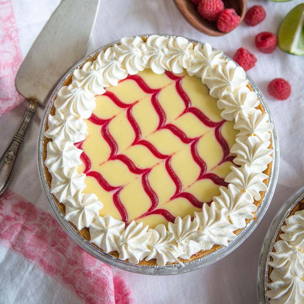Raspberry Key Lime Pie at Grand Traverse Pie Company