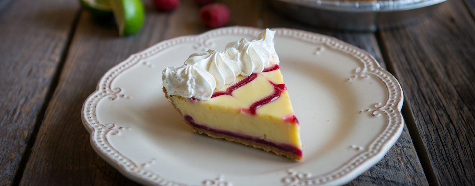 Raspberry Key Lime Pie at Grand Traverse Pie Company