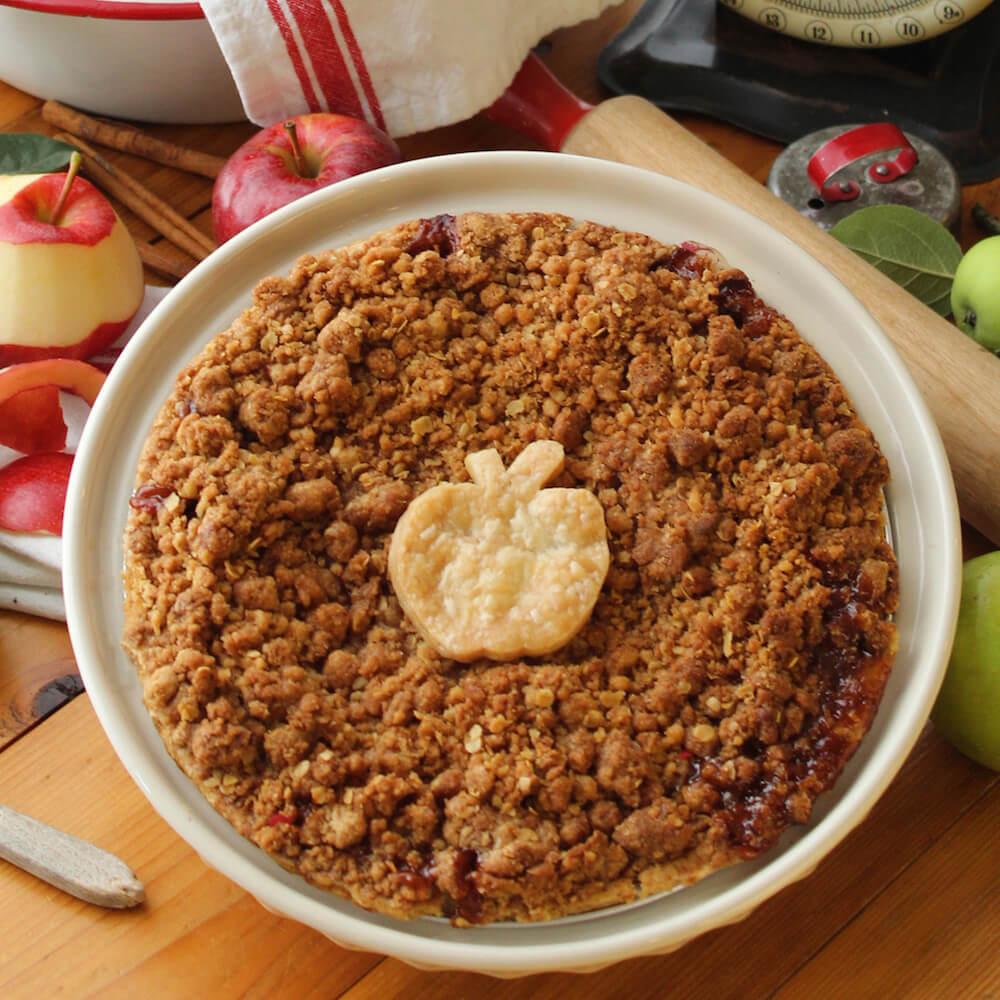 Apple Mountain Top Pie