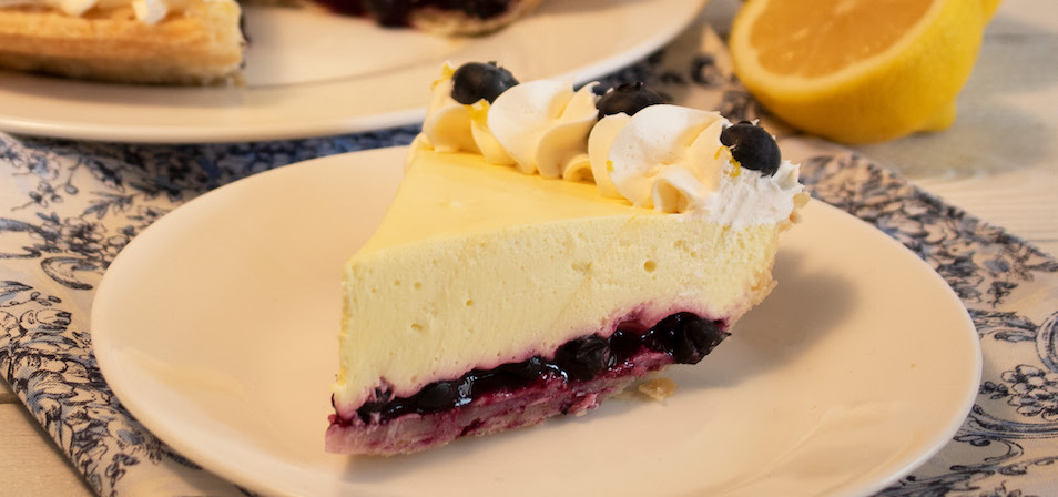 Blueberry Lemon Silk Pie
